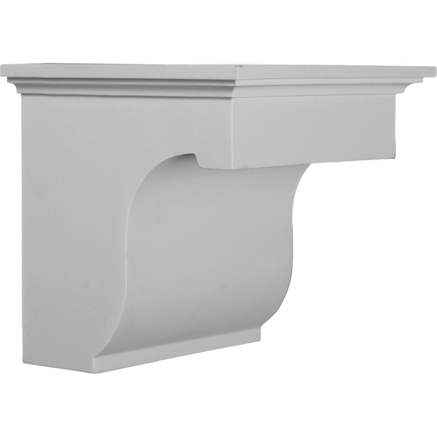 Ekena Millwork 8.875-in x 8-in White Legacy Urethane Corbel