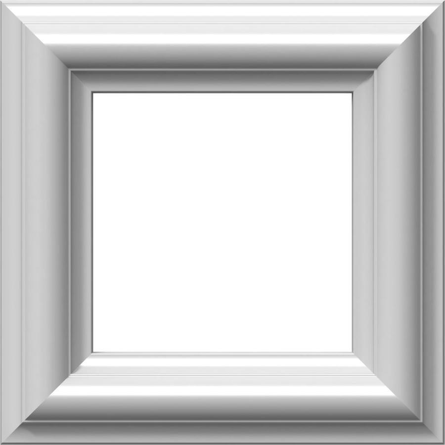 Ekena Millwork Ashford 8-in x 0.68-ft Primed Polyurethane Preassembled Picture Frame Moulding