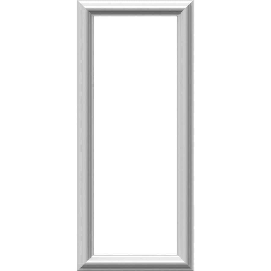 Ekena Millwork Ashford 12-in x 2.33-ft Primed Polyurethane Preassembled Picture Frame Moulding