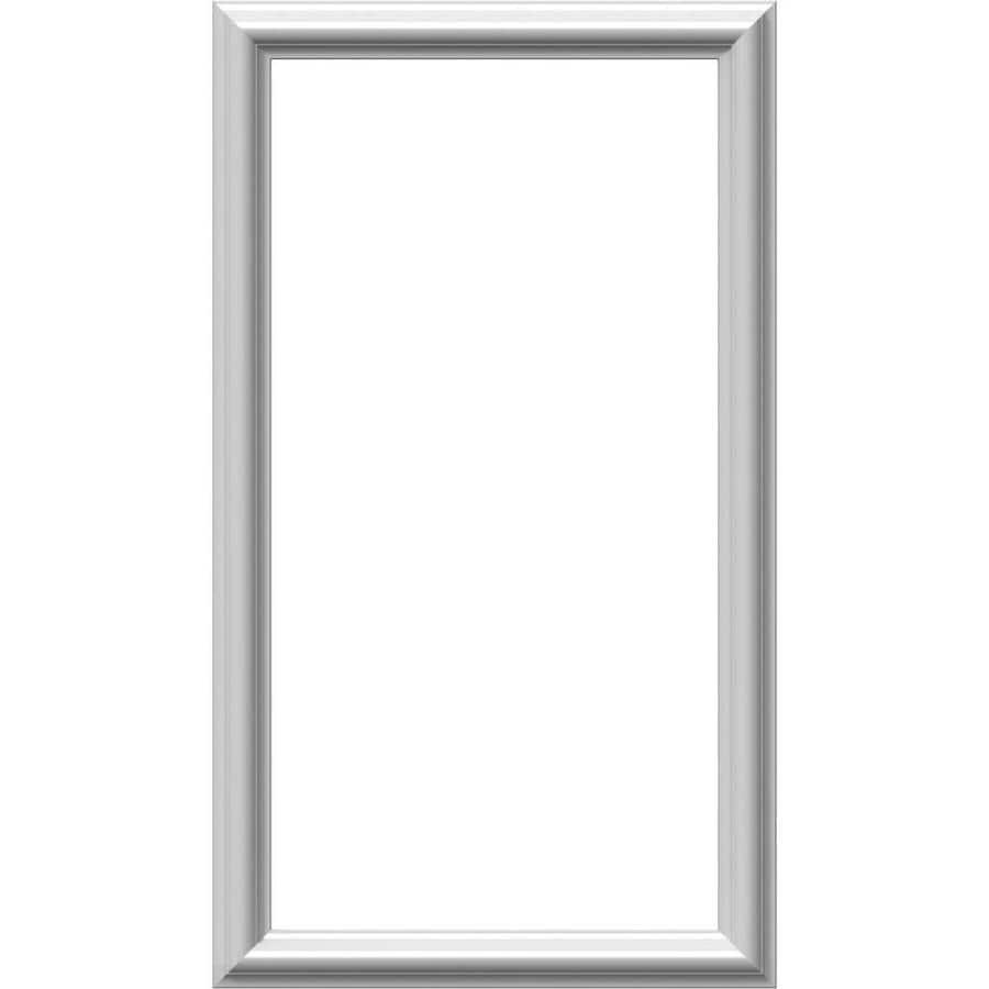 Ekena Millwork Ashford 16-in x 2.33-ft Primed Polyurethane Preassembled Picture Frame Moulding