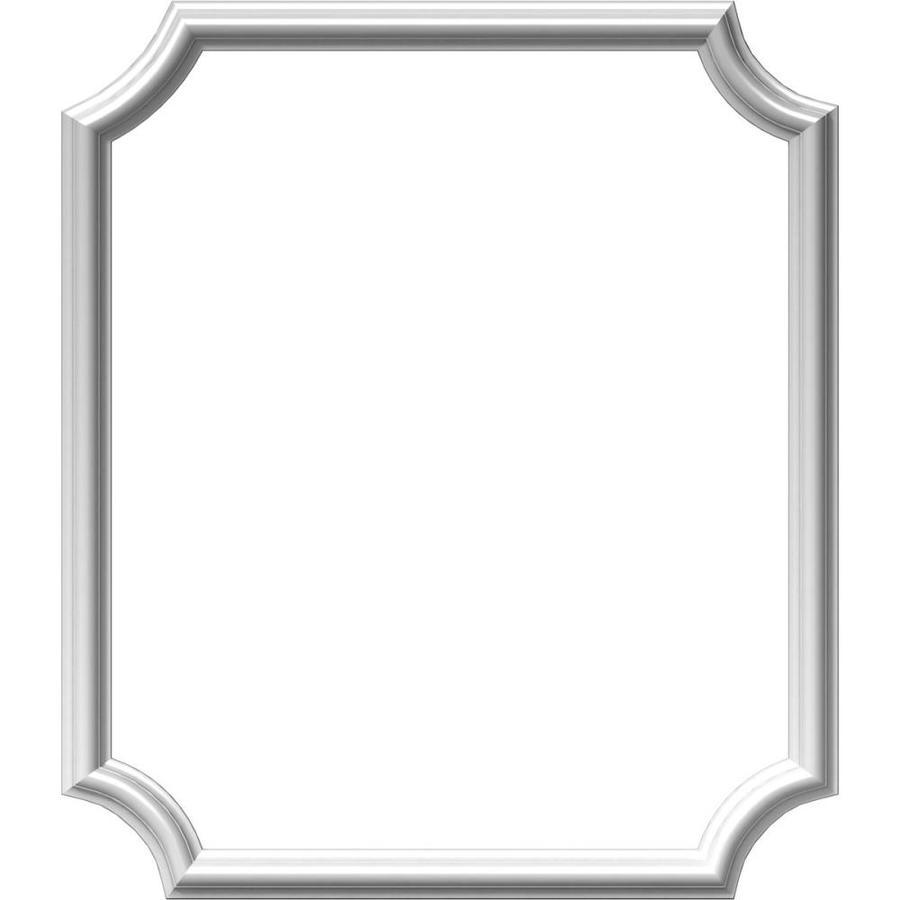 Ekena Millwork Ashford 24-in x 2.33-ft Primed Polyurethane Preassembled Picture Frame Moulding