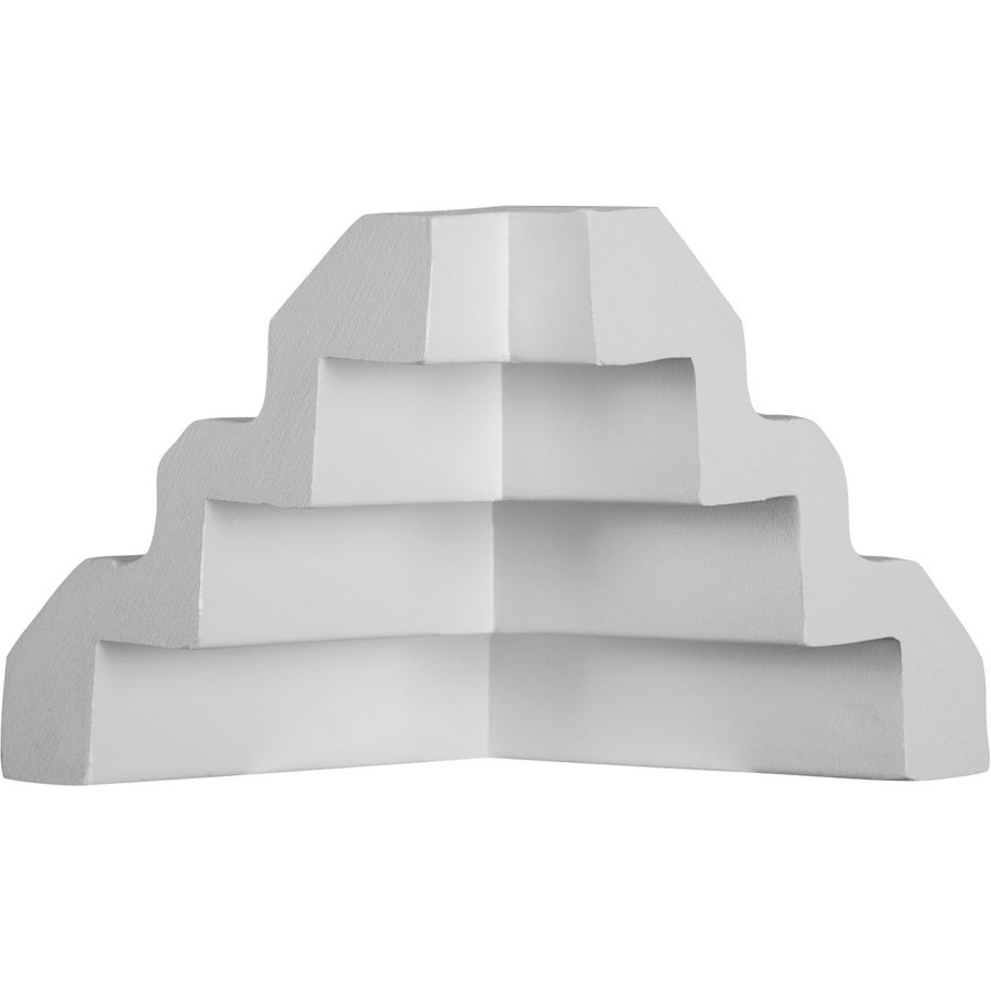 Ekena Millwork 4.25-in x 4.25-in Primed Polyurethane Inside Corner Crown Moulding Block