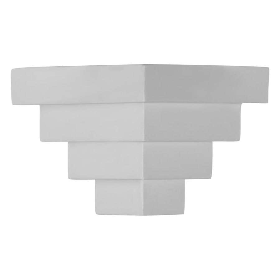 Ekena Millwork 4.25-in x 4.25-in Primed Polyurethane Outside Corner Crown Moulding Block