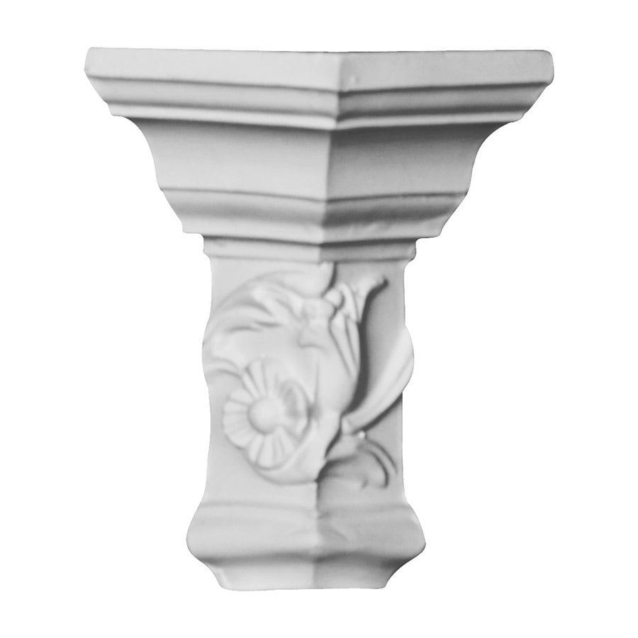 Ekena Millwork 2.25-in x 2.25-in Primed Polyurethane Outside Corner Crown Moulding Block