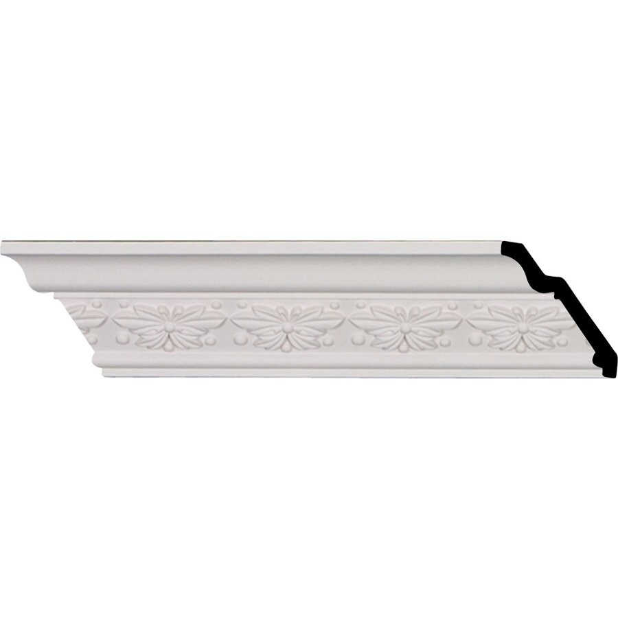 Ekena Millwork 2.5-in x 8.01-ft Primed Polyurethane Butterfly Crown Moulding