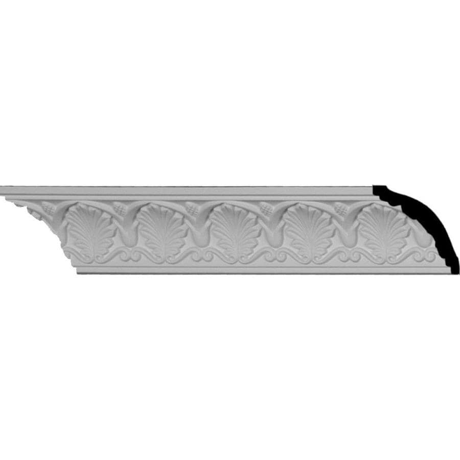 Ekena Millwork 2.5-in x 8.01-ft Polyurethane Bonetti Crown Moulding