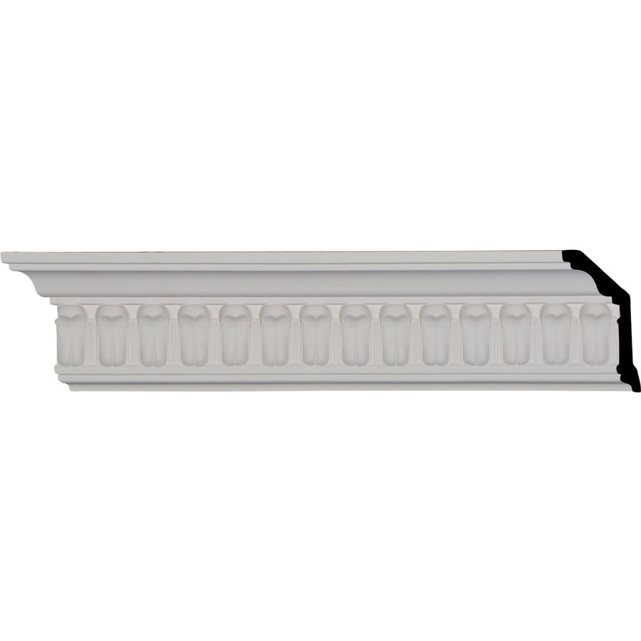 Ekena Millwork 3.625-in x 8.01-ft Primed Polyurethane Chaffin Crown Moulding