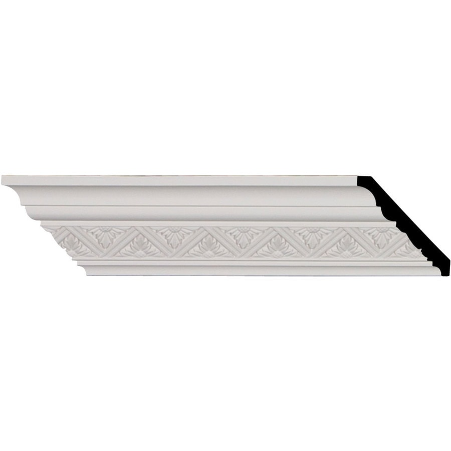 Ekena Millwork 3-in x 8.01-ft Primed Polyurethane Crown Moulding