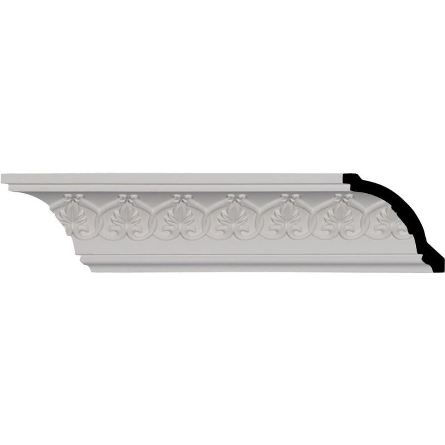 Ekena Millwork 3-in x 7.99-ft Primed Polyurethane Rachelle Crown Moulding