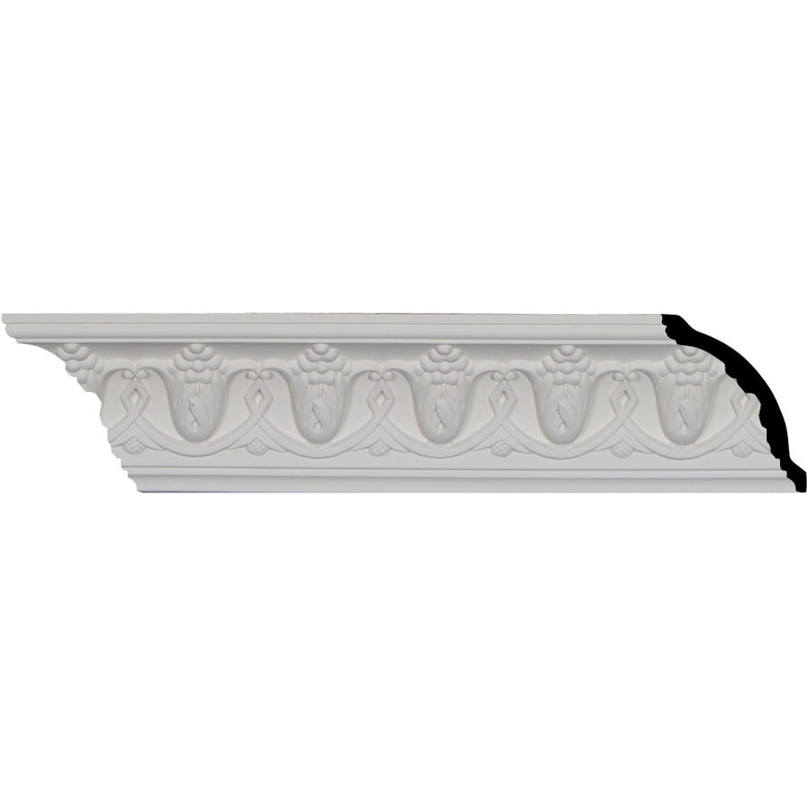Ekena Millwork 3.125-in x 7.99-ft Primed Polyurethane Grape Crown Moulding