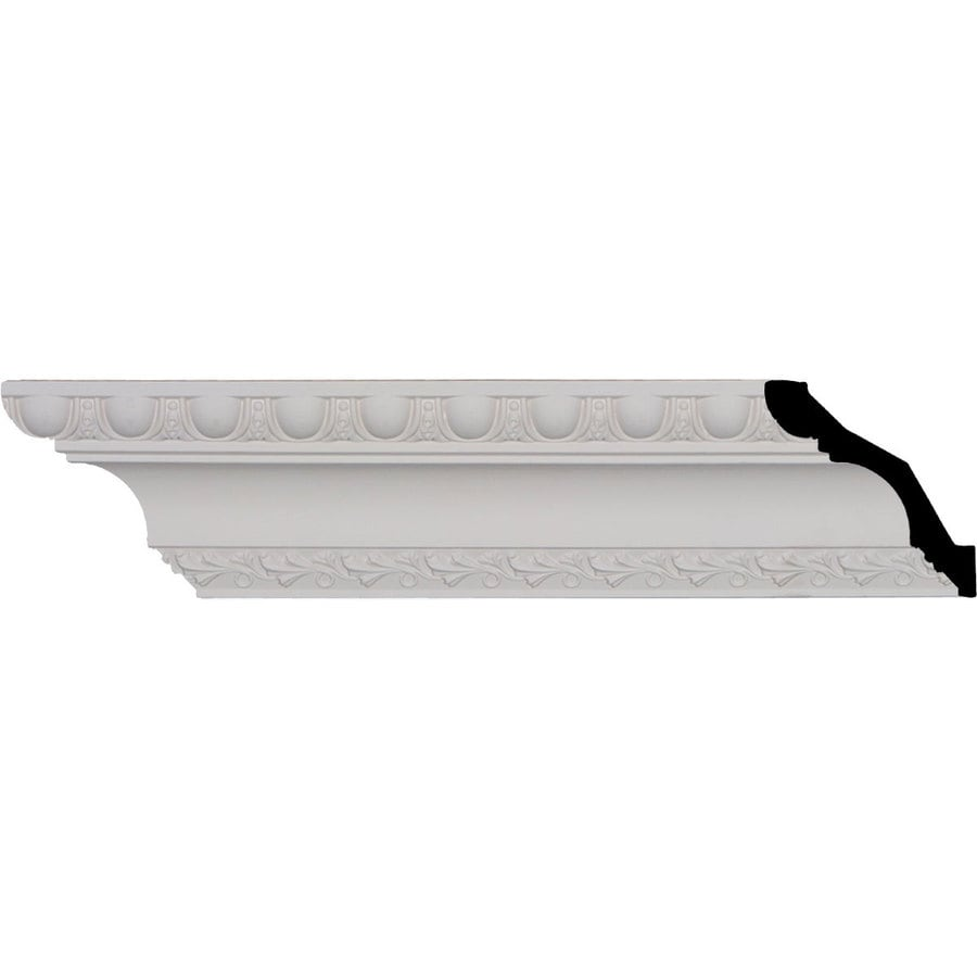 Ekena Millwork 3.25-in x 8-ft Primed Polyurethane Egg and Dart Crown Moulding