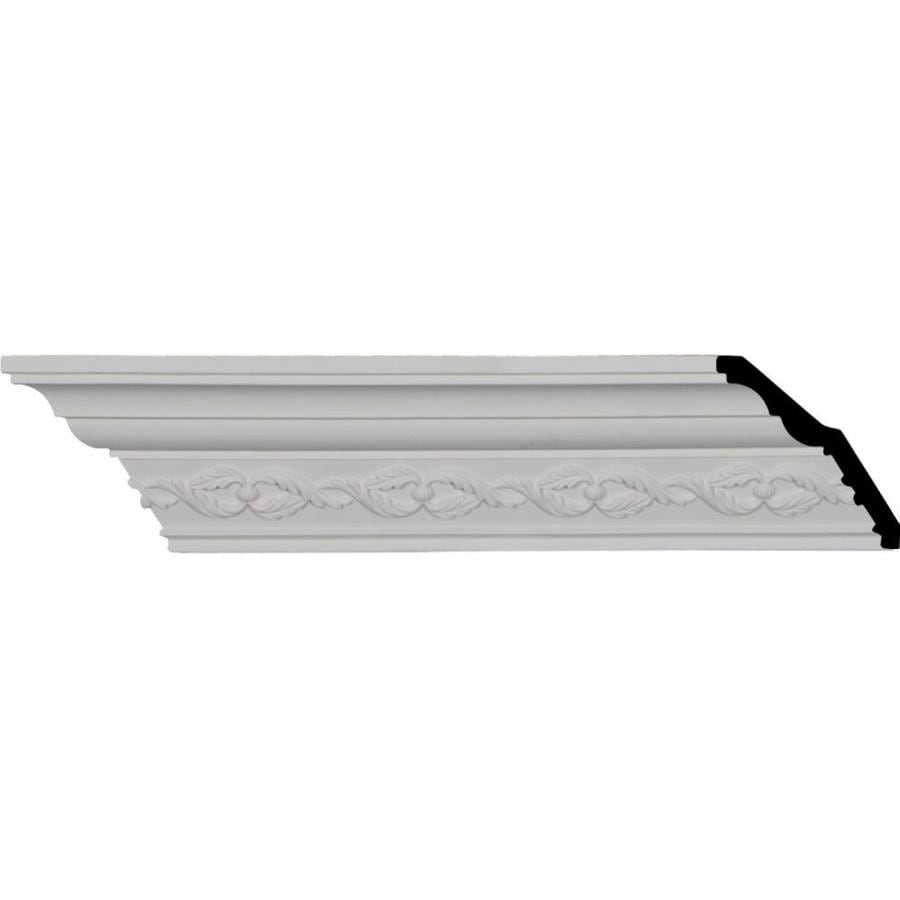 Ekena Millwork 3.625-in x 7.98-ft Primed Polyurethane Washington Crown Moulding