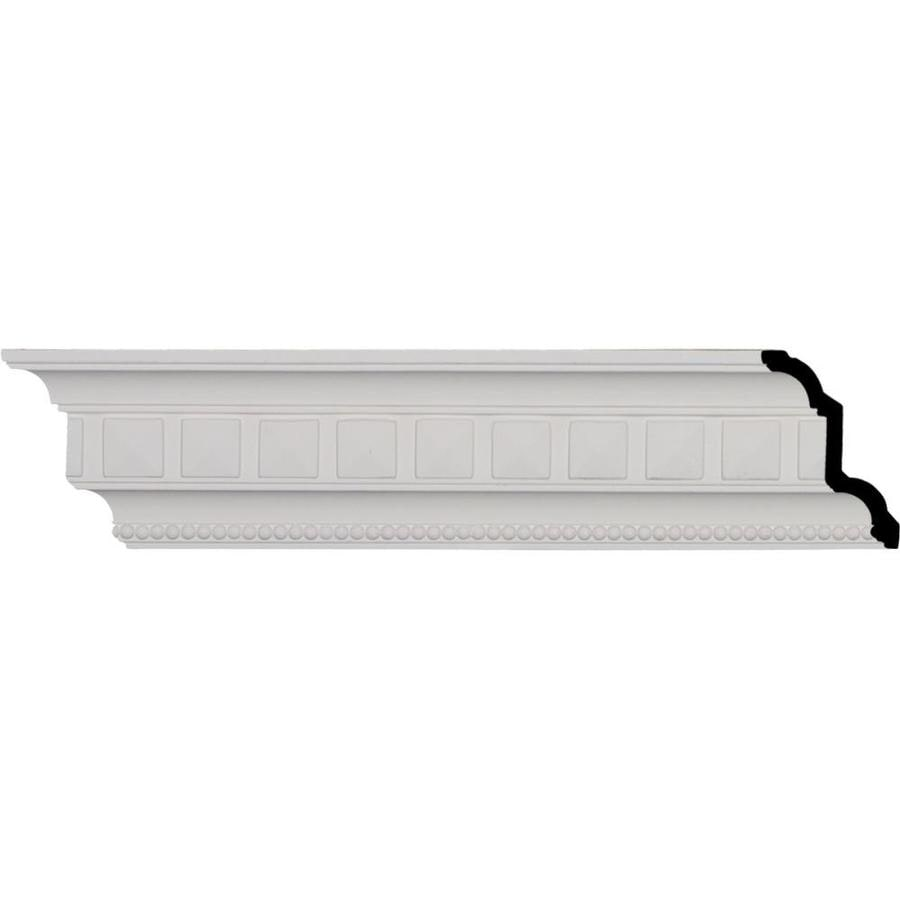 Ekena Millwork 4.375-in x 8-ft Polyurethane Swindon Egg and Dart Crown Moulding