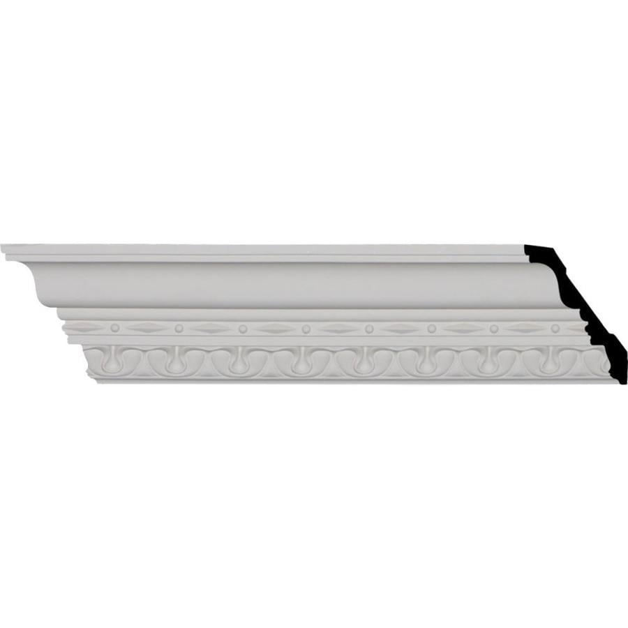 Ekena Millwork 4-in x 8.01-ft Polyurethane Leslie Crown Moulding