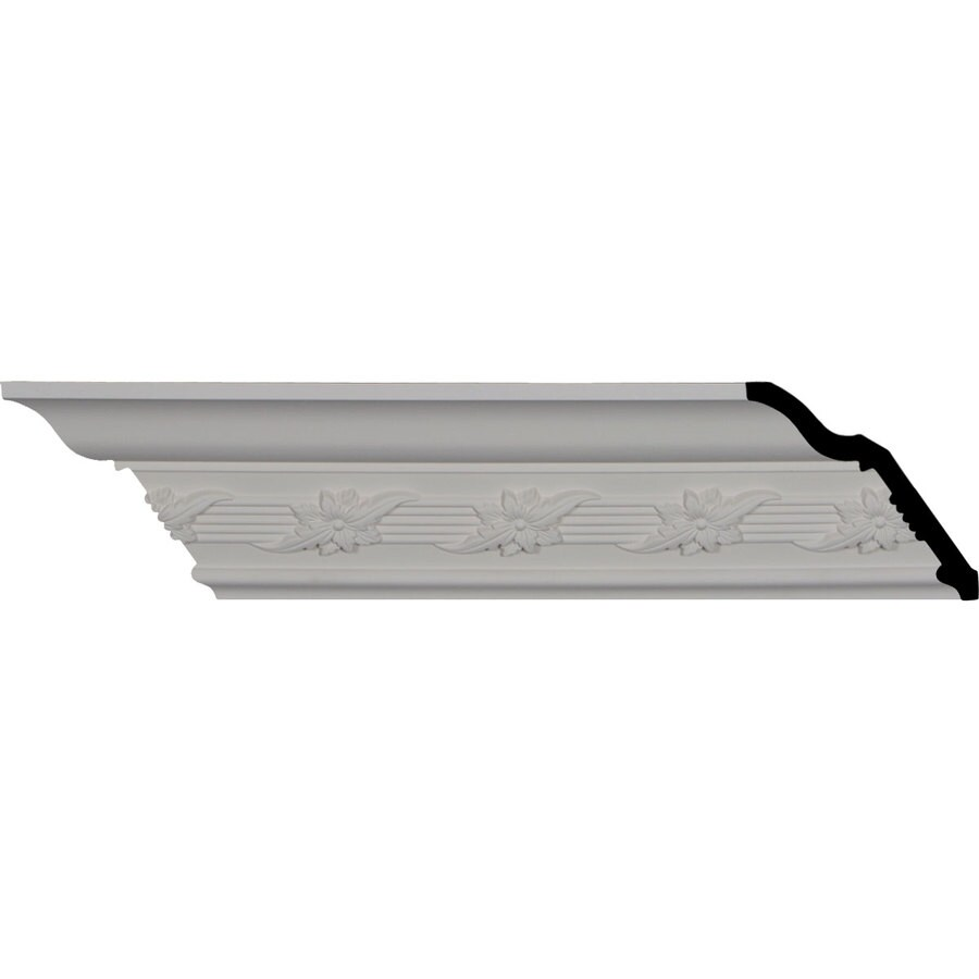 Ekena Millwork 4-in x 7.98-ft Primed Polyurethane Winston Crown Moulding