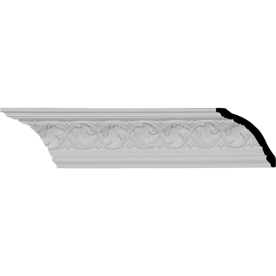 Ekena Millwork 4.125-in x 7.99-ft Primed Polyurethane Richmond Crown Moulding