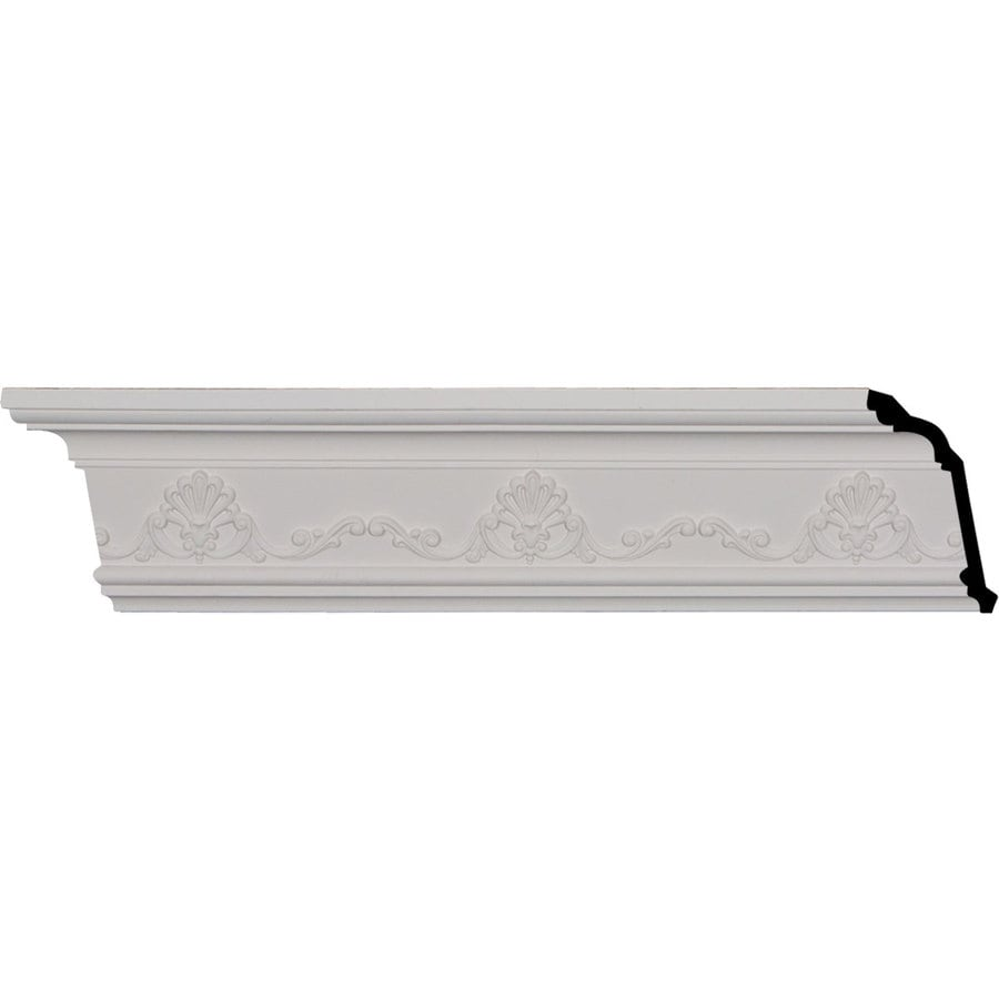 Ekena Millwork 4.375-in x 8.01-ft Primed Polyurethane Versailles Crown Moulding