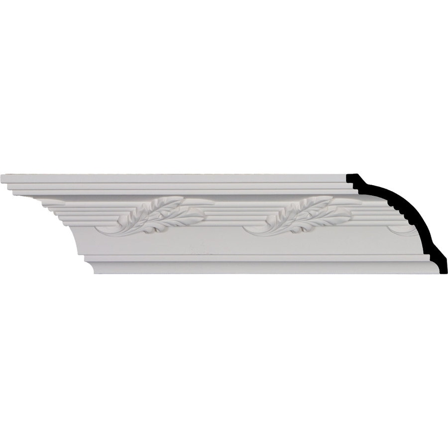 Ekena Millwork 4-in x 8-ft Primed Polyurethane Crown Moulding