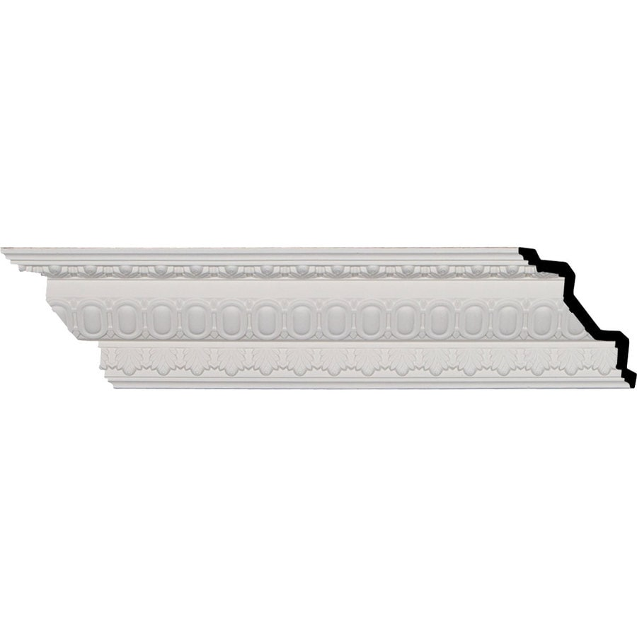 Ekena Millwork 4-in x 7.99-ft Polyurethane Egg and Dart Crown Moulding