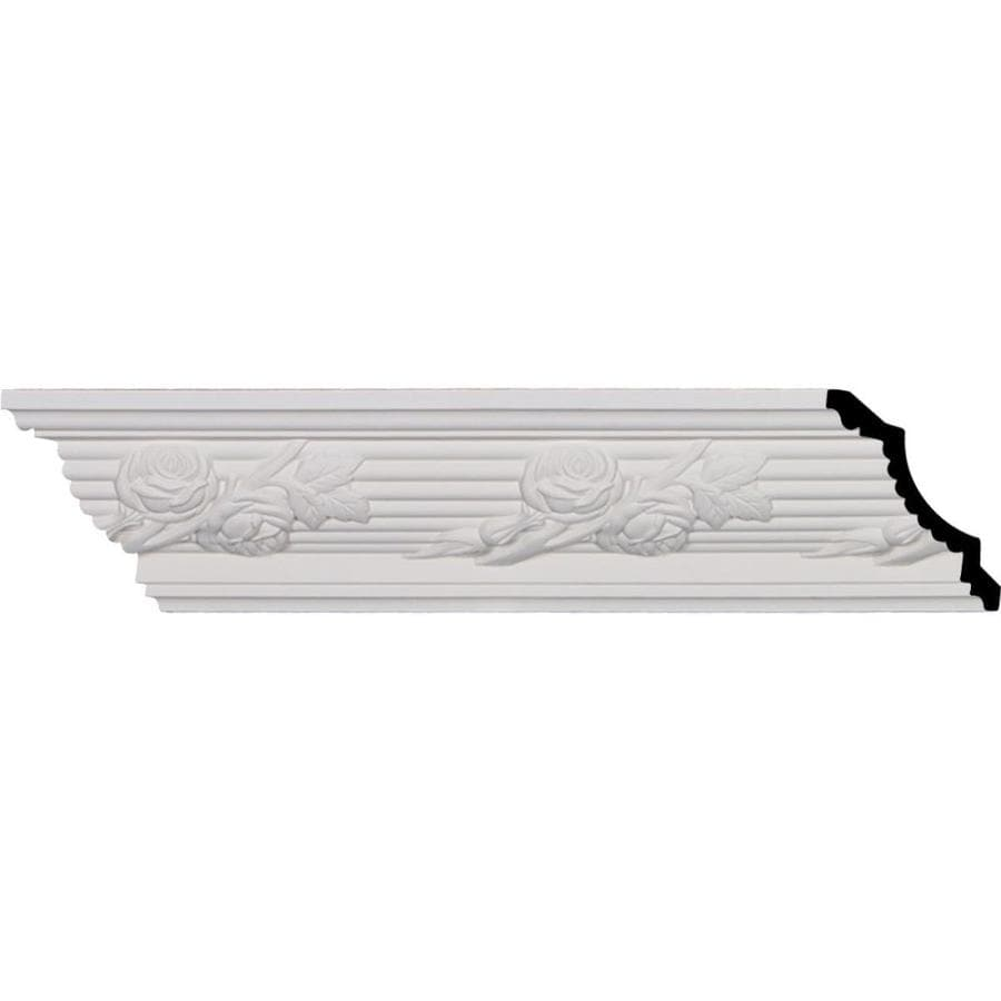 Ekena Millwork 4.25-in x 7.97-ft Primed Polyurethane Crown Moulding