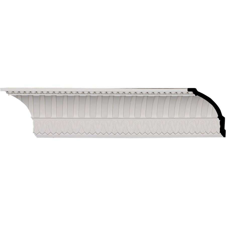 Ekena Millwork 4.75-in x 7.99-ft Polyurethane Cove Dentil with Bead Crown Moulding