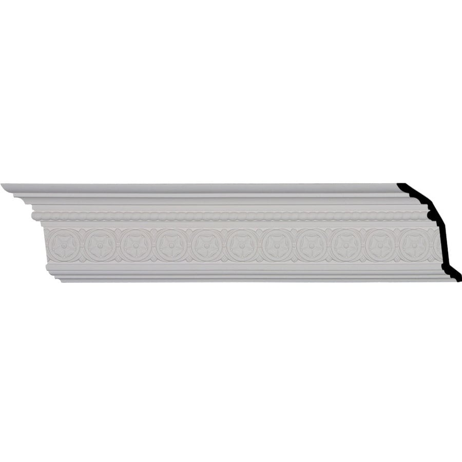 Ekena Millwork 5.75-in x 8.01-ft Primed Polyurethane Washington Crown Moulding