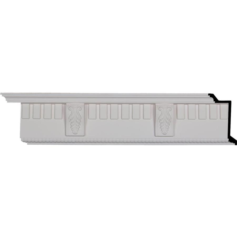 Ekena Millwork 5.75-in x 7.98-ft Polyurethane Dentil with Bead Crown Moulding