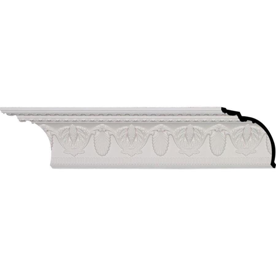 Ekena Millwork 6.75-in x 8.01-ft Primed Polyurethane Harvest Crown Moulding