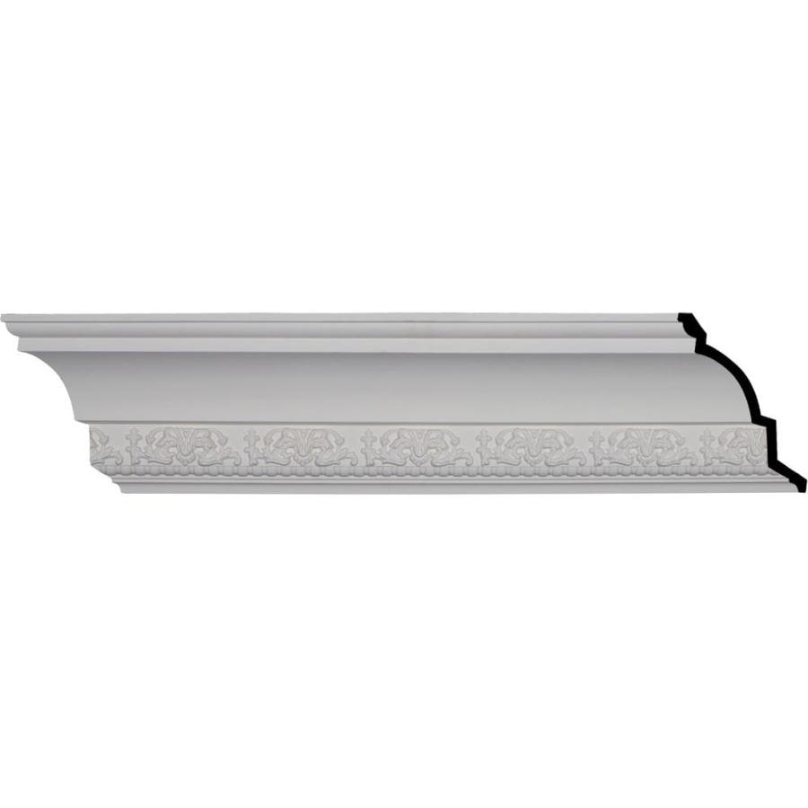 Ekena Millwork 7.125-in x 7.99-ft Primed Polyurethane Athena Crown Moulding