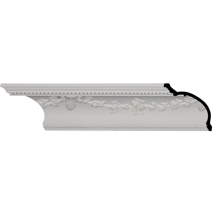 Ekena Millwork 6.75-in x 8-ft Polyurethane Floral Crown Moulding