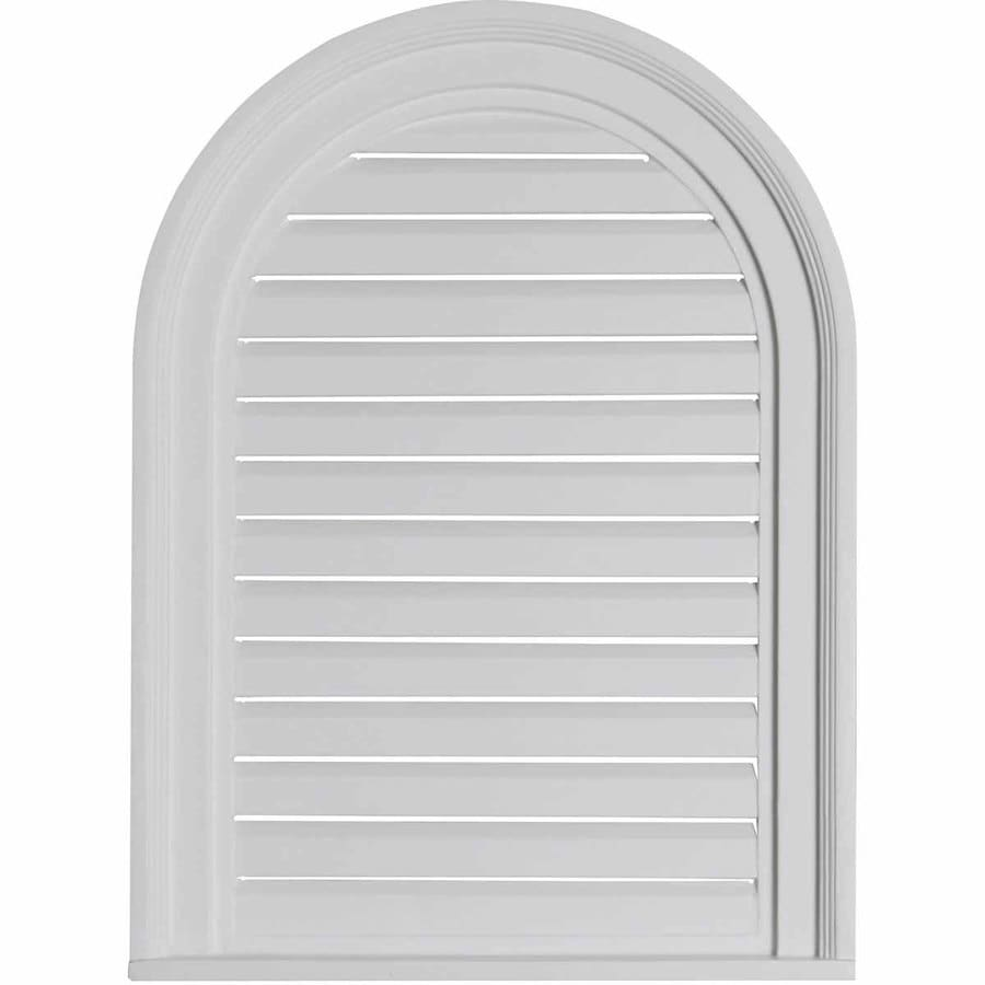 Ekena Millwork 18-in x 24-in White Round Top Urethane Gable Vent
