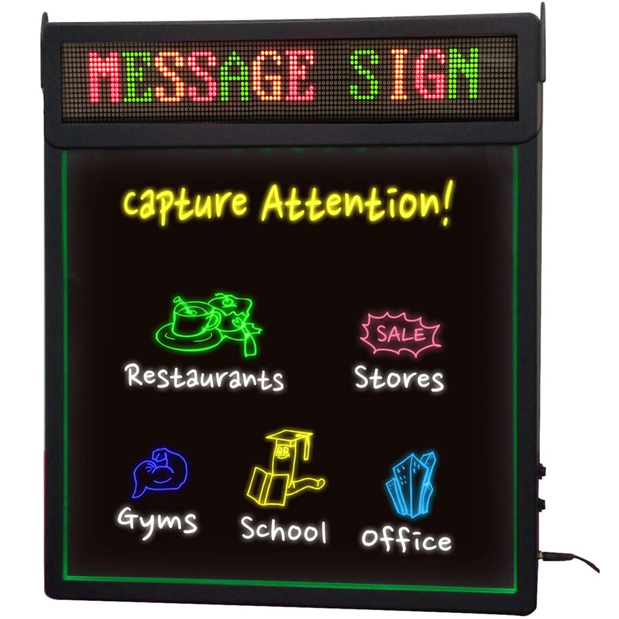 Royal Sovereign 19-in Multi-Function LED Message Board Lighted Sign