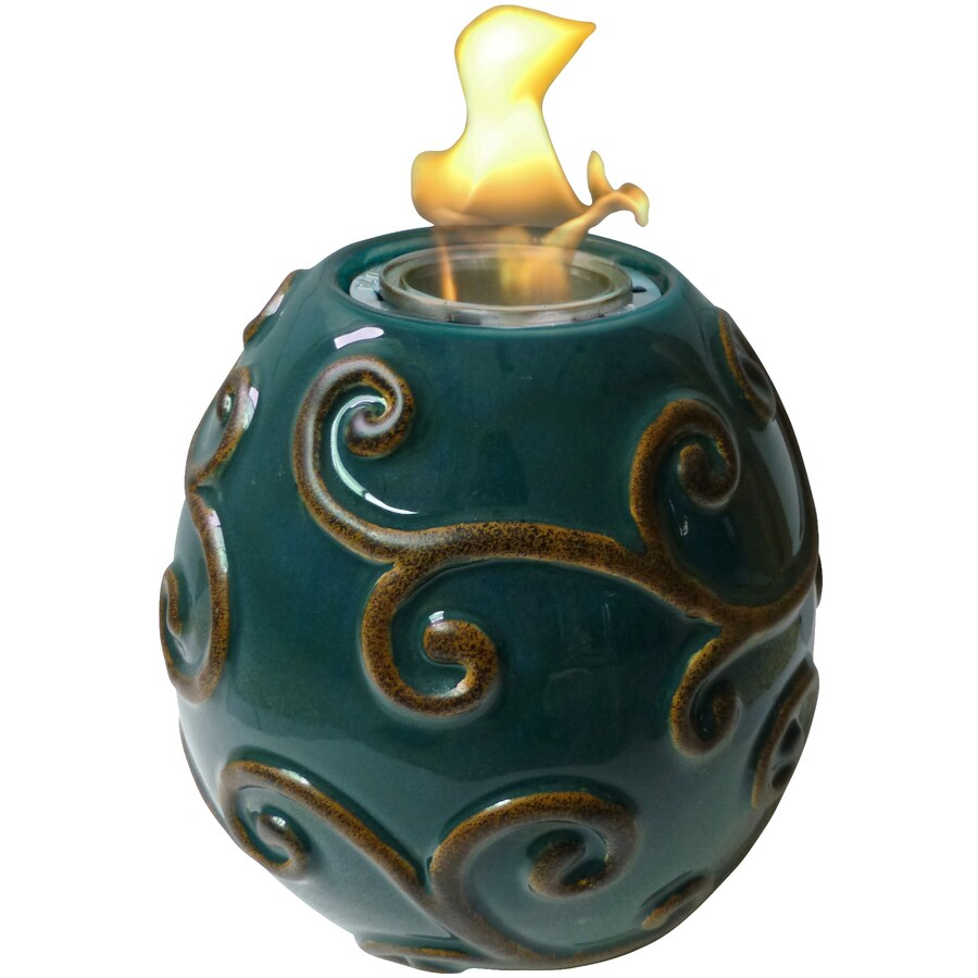Garden Treasures Victorian 7.17-in Flourish Ceramic Fire Pot
