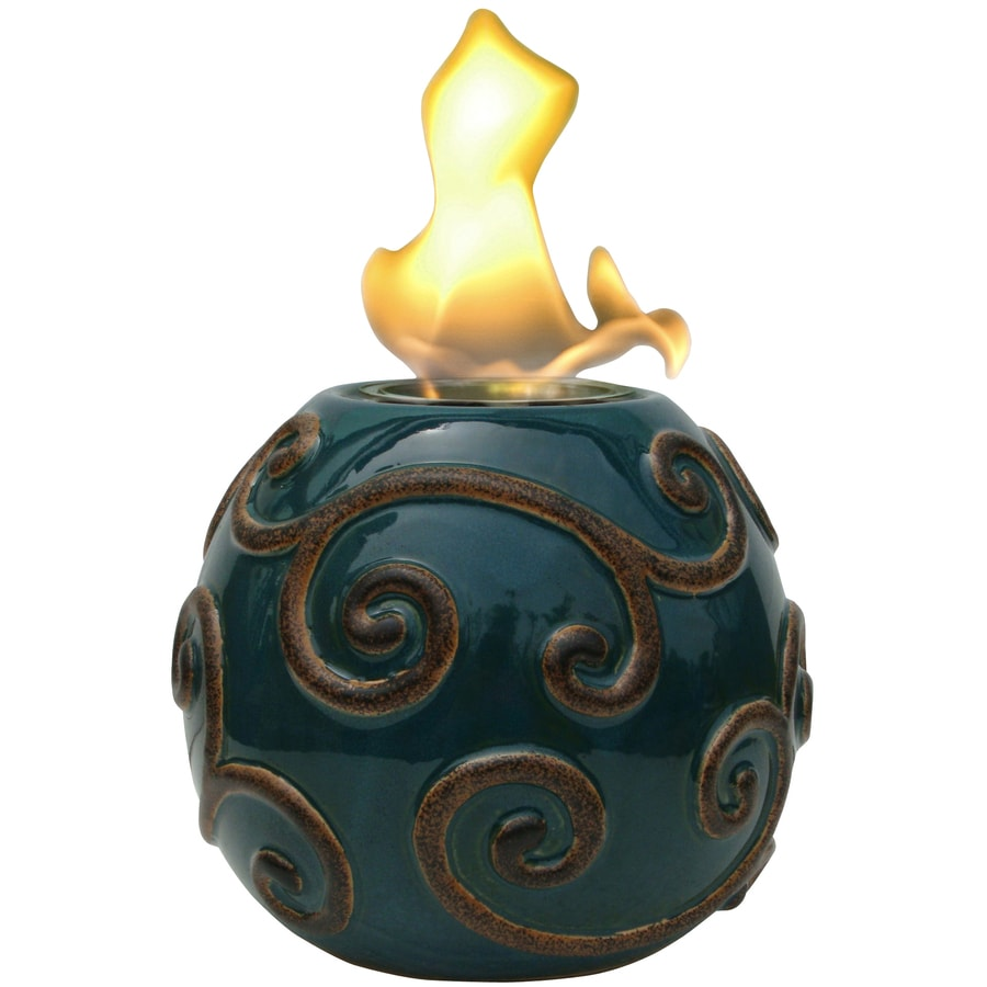 Garden Treasures Victorian 5.71-in Flourish Ceramic Fire Pot