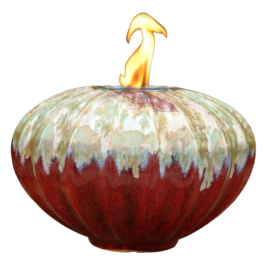 Allen Roth Tambora 7 87 In Wine Ceramic Fire Pot