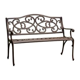 Best Ing Home Decor 26 77 In W X 48 42 L Antique Brown Aluminum