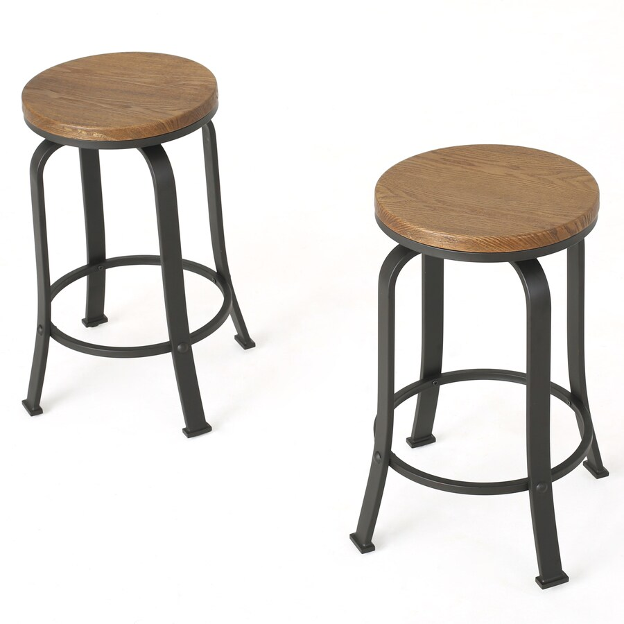 Best Selling Home Decor Skyla Set Of 2 Natural Counter Height Swivel Bar Stool In The Bar Stools Department At Lowes Com