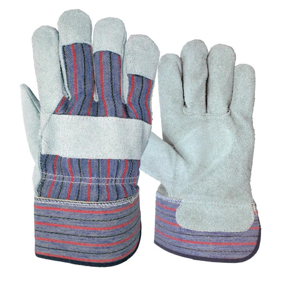 Blue Hawk Large Men's Leather Leather Palm Work Gloves