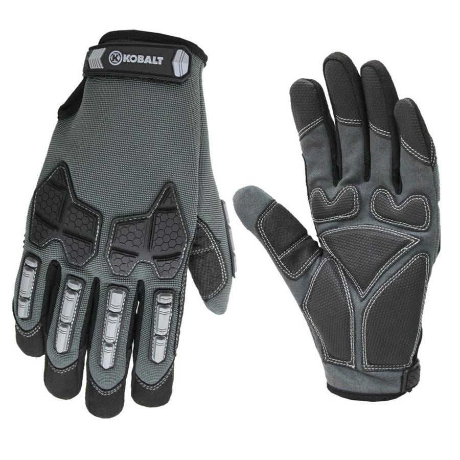 Leather work gloves sale - Kobalt Men S Synthetic Leather High Performance Gloves