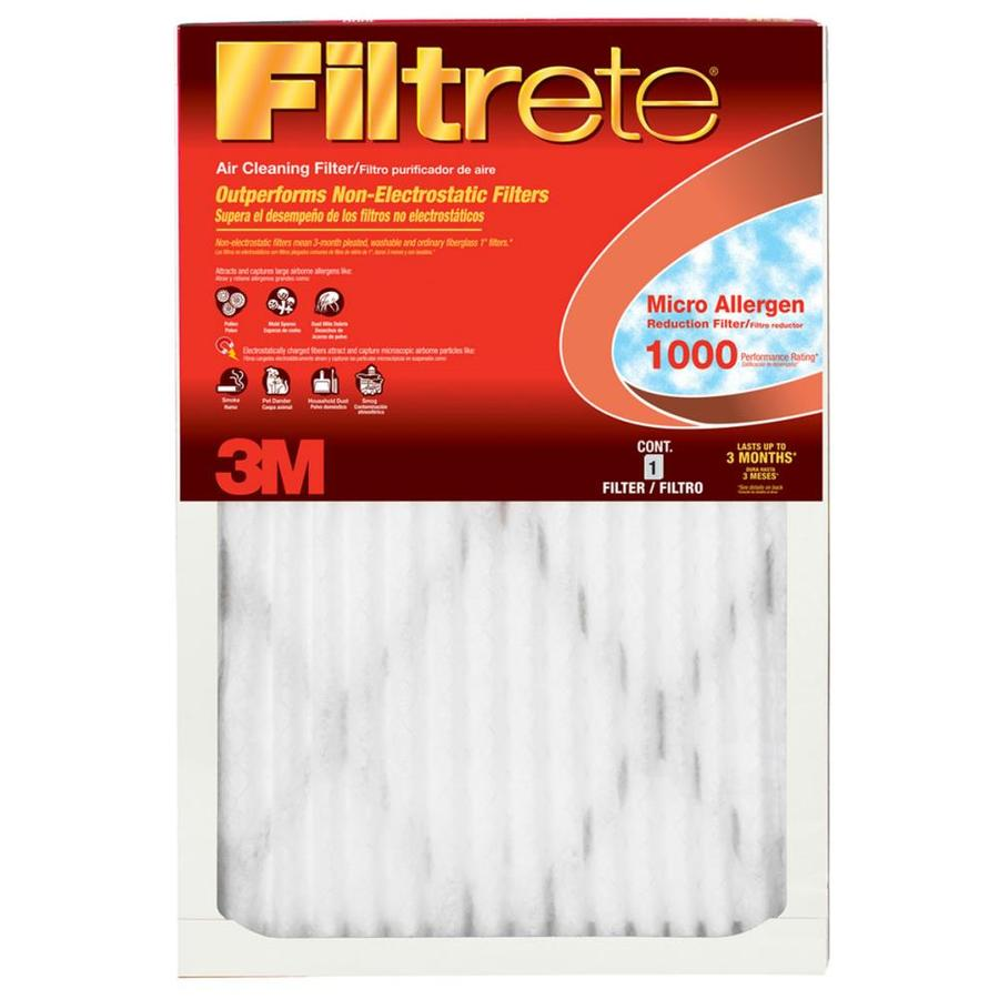 Filtrete 6-Pack 1000 MPR Micro Allergen (Common: 9.5-in x 21.5-in x 1-in; Actual: 9.5-in x 21.5-in x 0.8-in) Electrostatic Pleated Air Filter