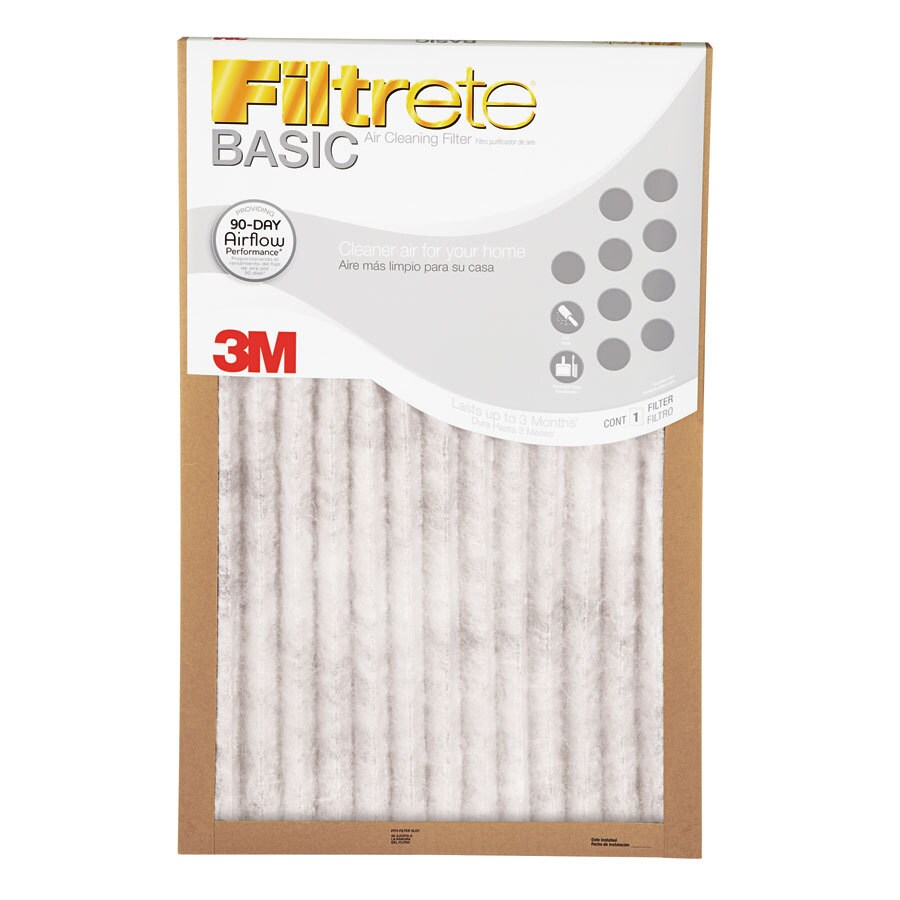 Filtrete 6-Pack Basic Pleated 17-in x 35-in x 1-in Pleated Specialty Air Filters