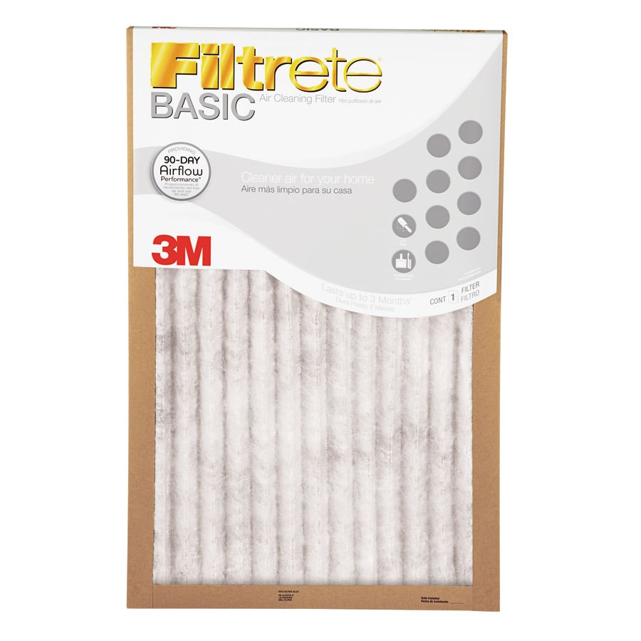 Filtrete 6-Pack Basic Pleated 20-in x 21.5-in x 1-in Pleated Specialty Air Filters