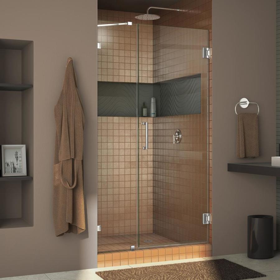 DreamLine Unidoor Lux 41-in to 41-in W Frameless Chrome Hinged Shower Door