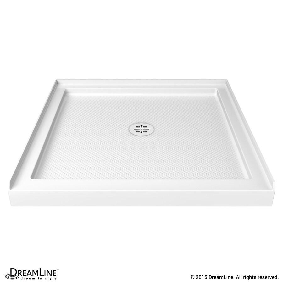 DreamLine Slimline White Acrylic Shower Base (Common: 32-in W x 32-in L; Actual: 32-in W x 32-in L)