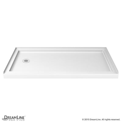 Slimline White Acrylic Shower Base 36 In W X 60 L With Left Drain
