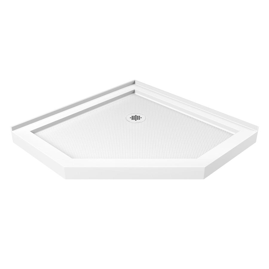 DreamLine SlimLine 40-in L x 40-in W White Acrylic Neo-Angle Corner Shower Base