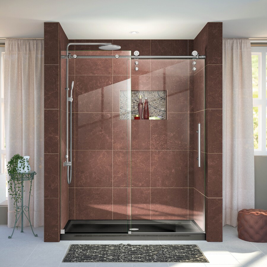 DreamLine Enigma-Z 56-in to 60-in W x 76-in H Frameless Sliding Shower Door