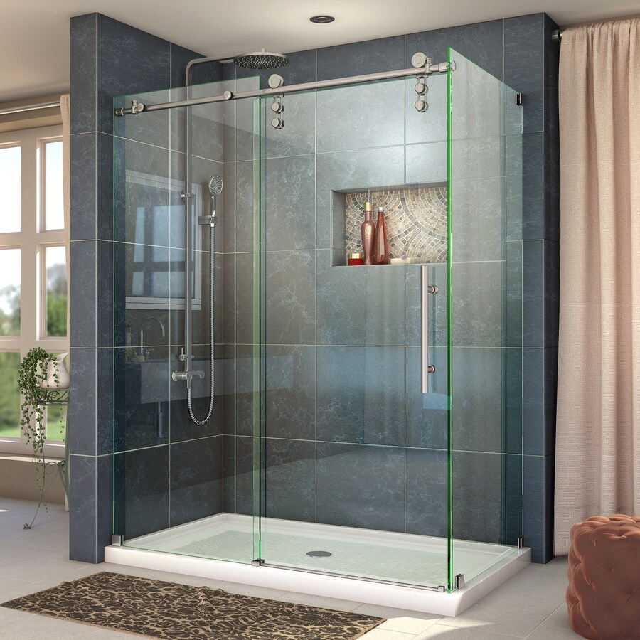 DreamLine Enigma-Z 56.375-in to 60.375-in W x 76-in H Frameless Sliding Shower Door