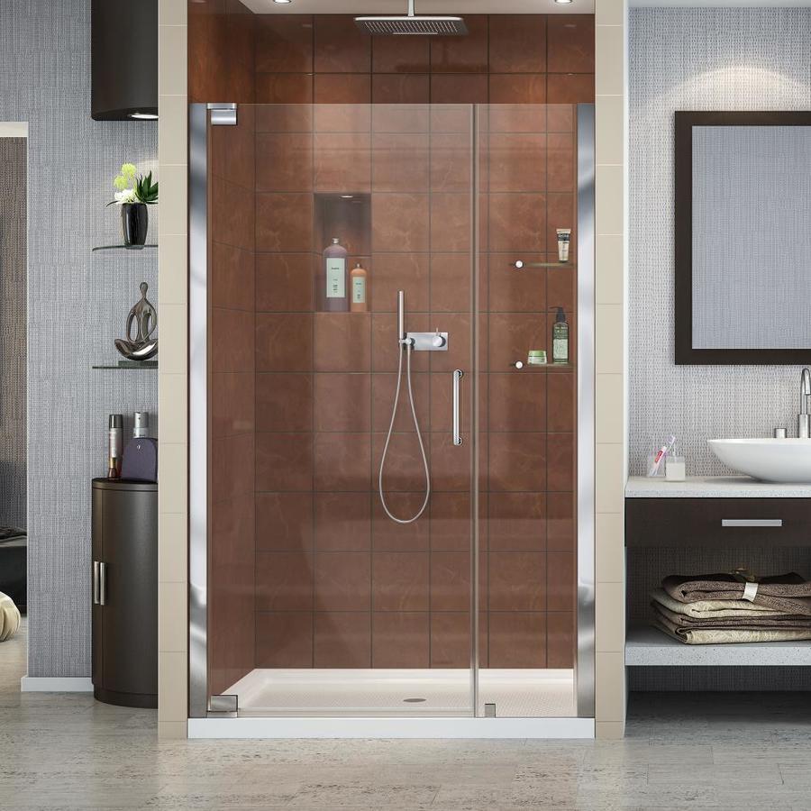 DreamLine Elegance 40.75-in to 42.75-in Frameless Chrome Pivot Shower Door
