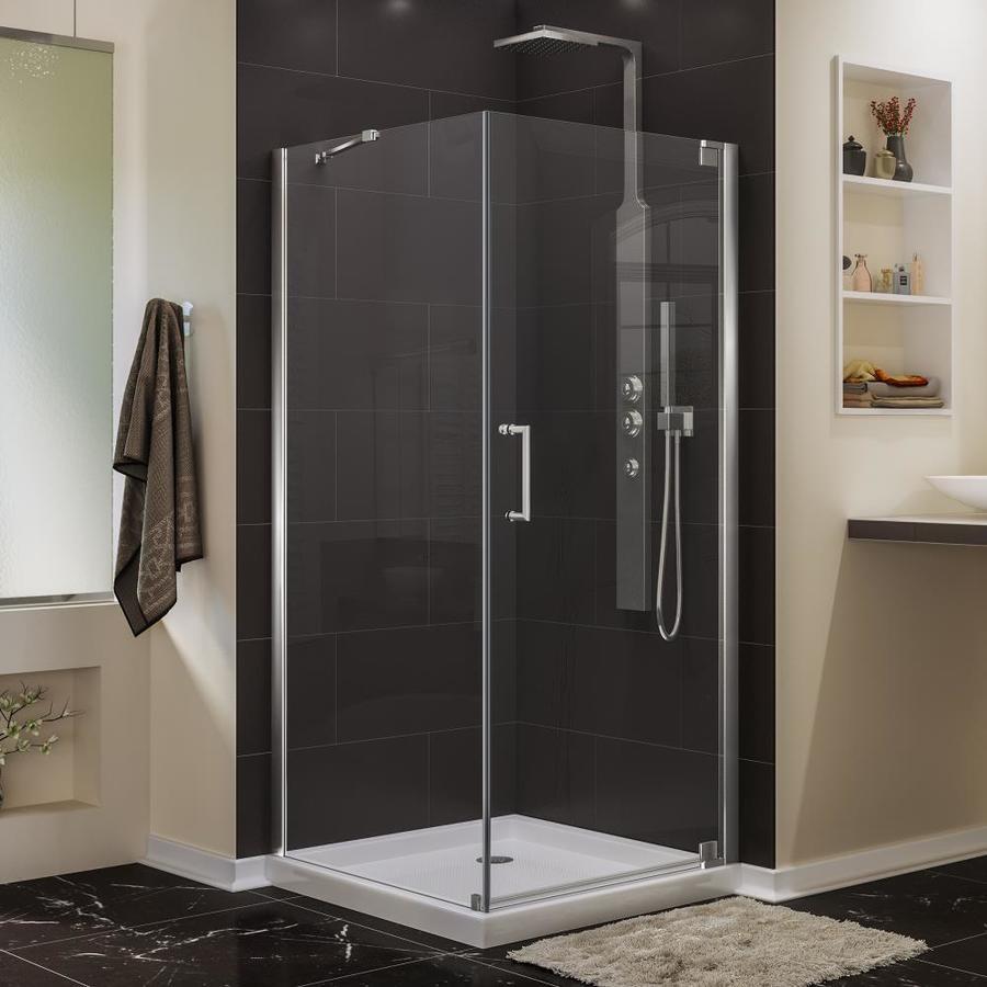 DreamLine Elegance 34-in to 34-in W Frameless Chrome Pivot Shower Door